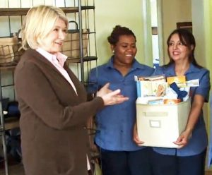 Martha Stewart featured Total Home Cleaning on her TV show.